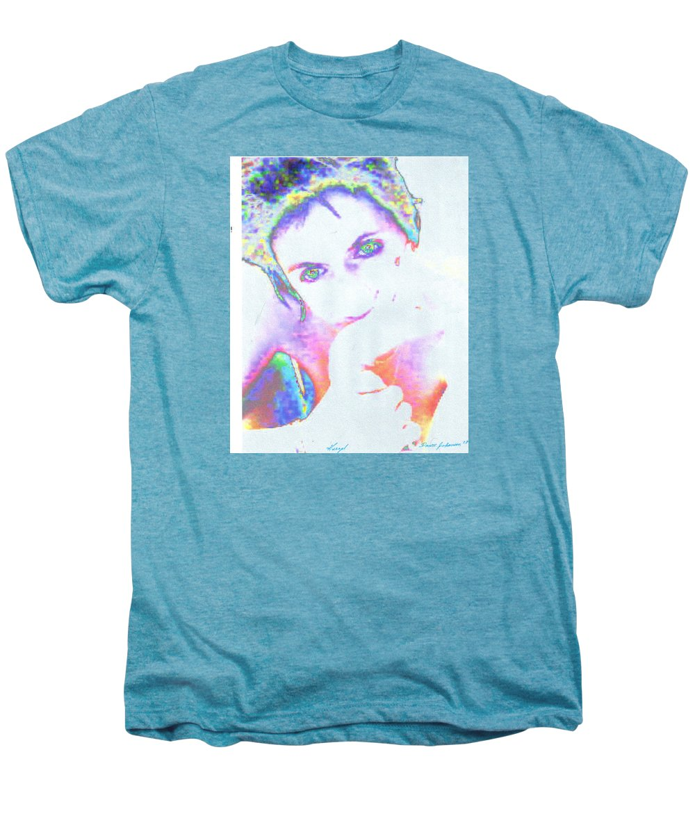 Portrate Of A French Girl Men's Premium T-Shirt featuring the photograph Gisele by Dawn Johansen