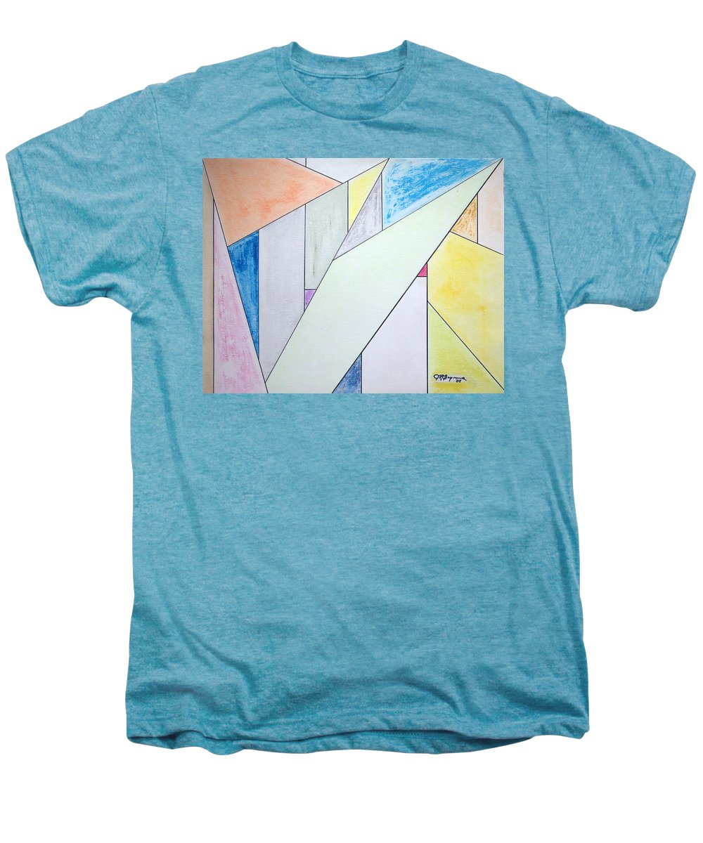 Buildings Men's Premium T-Shirt featuring the mixed media Glass-scrapers by J R Seymour