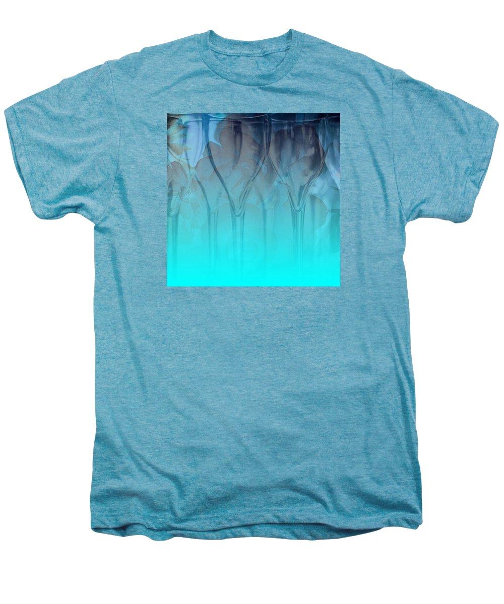 Glasses Men's Premium T-Shirt featuring the digital art Glasses Floating by Allison Ashton
