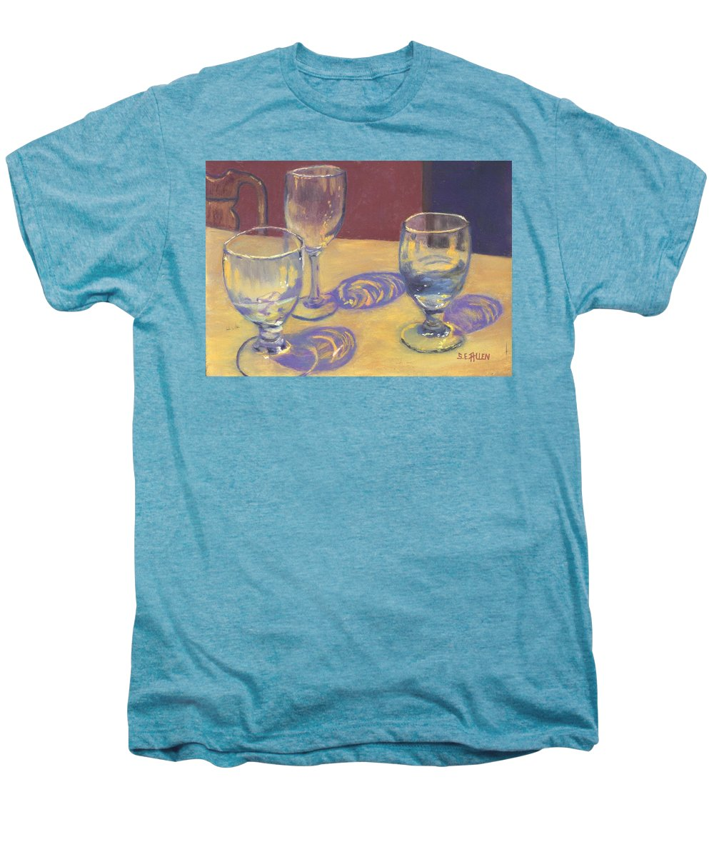 Glasses Men's Premium T-Shirt featuring the painting Glasslights by Sharon E Allen