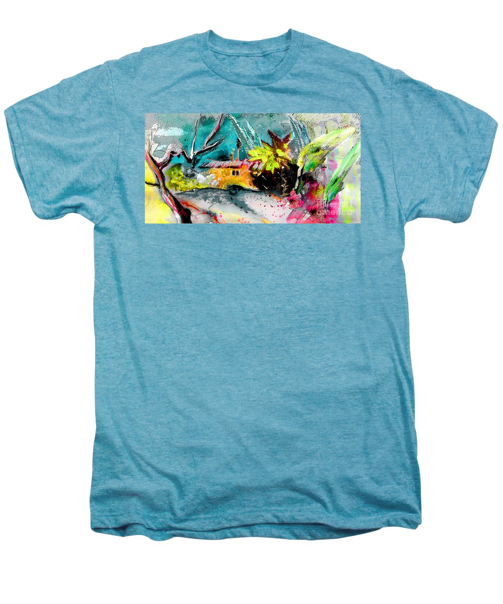 Pastel Painting Men's Premium T-Shirt featuring the painting Glory Of Nature by Miki De Goodaboom