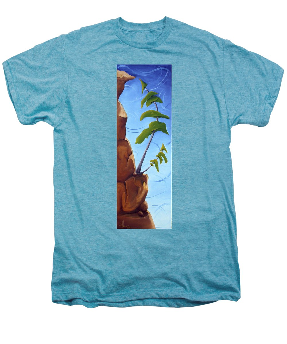 Landscape Men's Premium T-Shirt featuring the painting Goals by Richard Hoedl