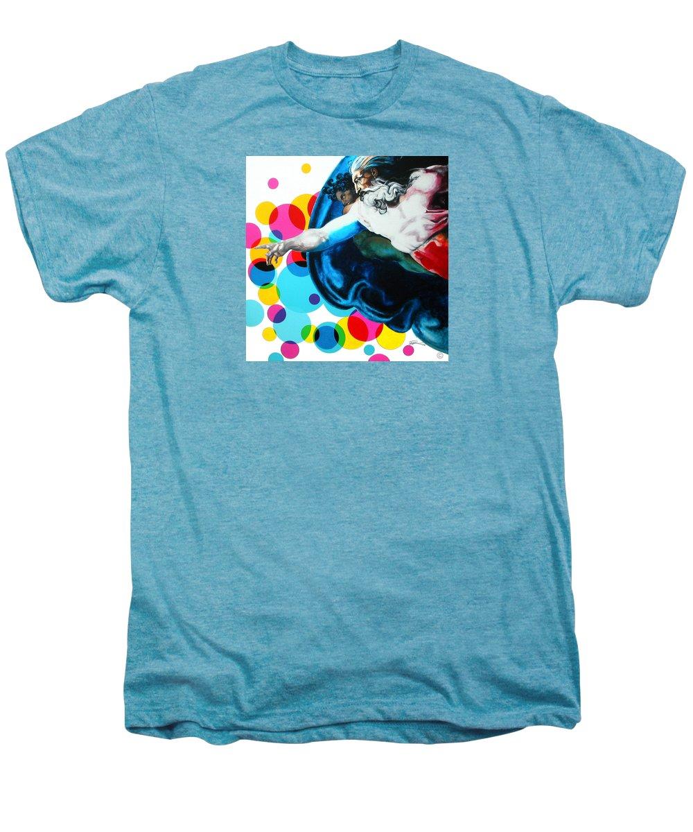 Classic Men's Premium T-Shirt featuring the painting God by Jean Pierre Rousselet