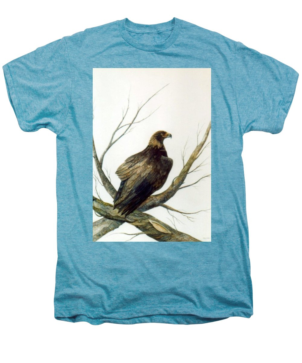 Eagle Men's Premium T-Shirt featuring the painting Golden Eagle by Ben Kiger