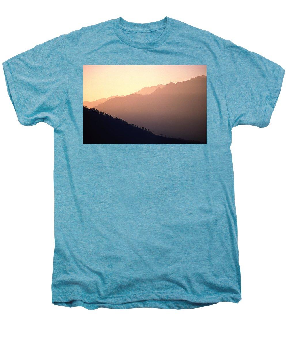 Langtang Men's Premium T-Shirt featuring the photograph Golden Mountains by Patrick Klauss