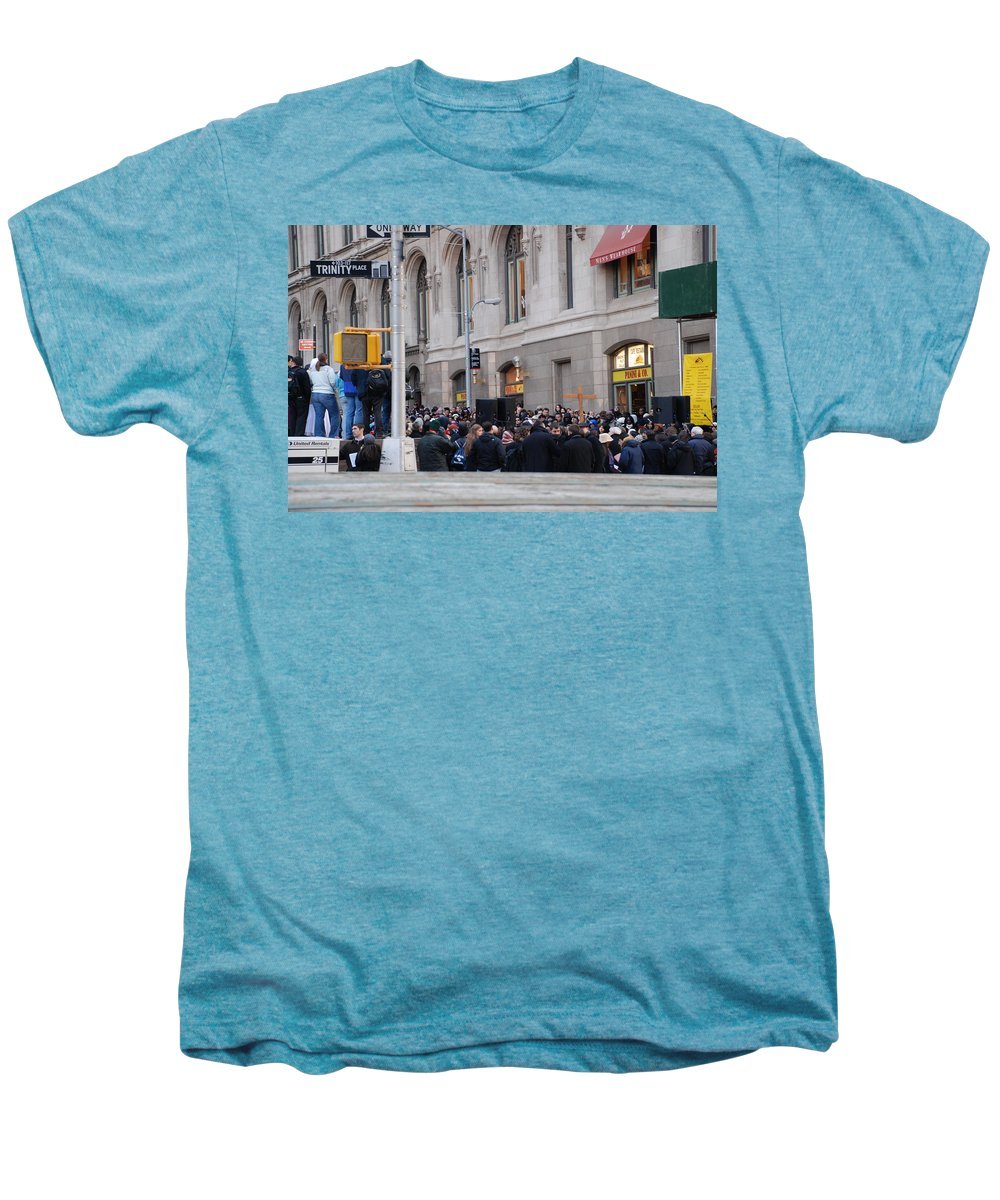 Church Men's Premium T-Shirt featuring the photograph Good Friday On Trinity Place by Rob Hans