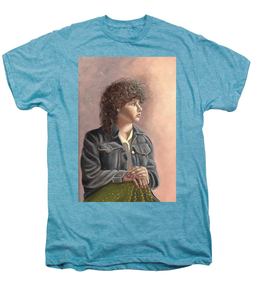 Men's Premium T-Shirt featuring the painting Grace by Toni Berry