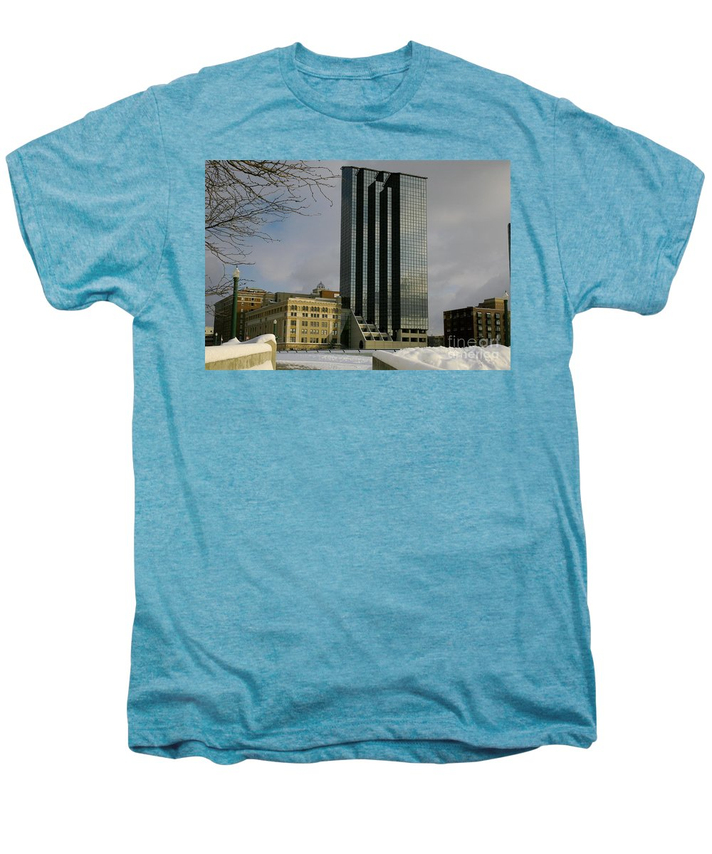Land Scape Grand Hotel City Men's Premium T-Shirt featuring the photograph Grand Rapids Mi-4 by Robert Pearson