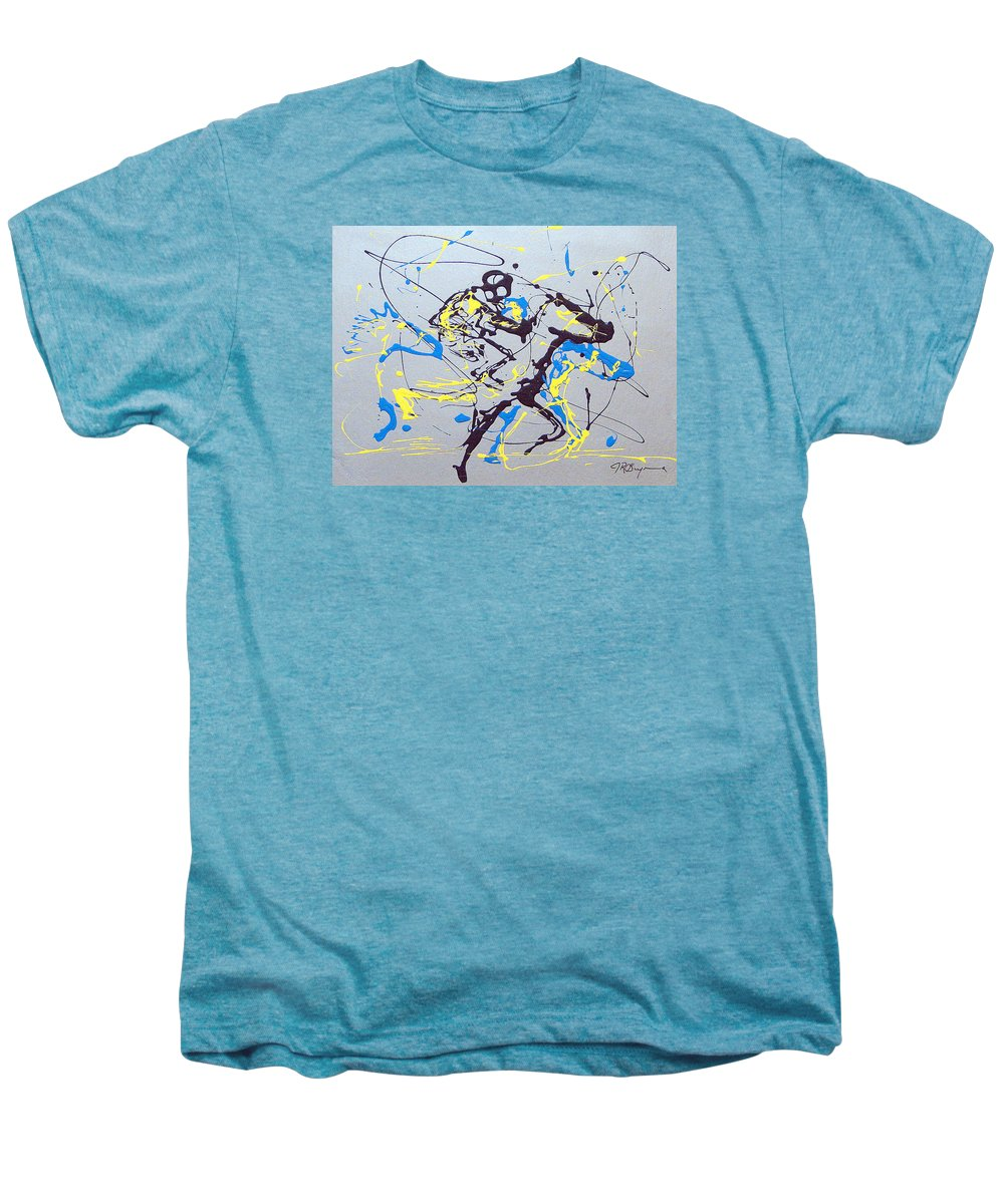 Kentucky Derby Men's Premium T-Shirt featuring the painting Great Day In Kentucky by J R Seymour