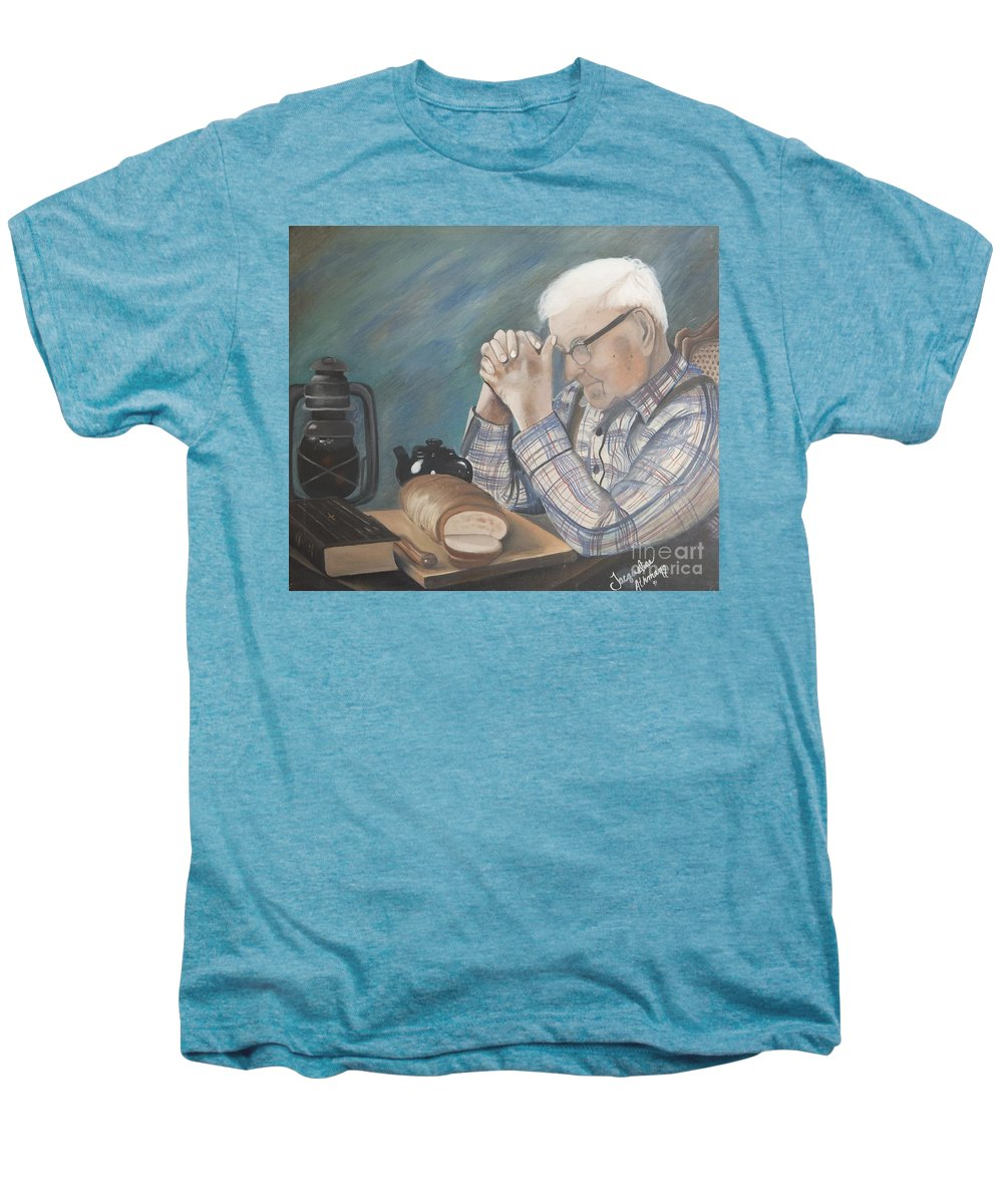 Great Grandpa Men's Premium T-Shirt featuring the painting Great Grandpa by Jacqueline Athmann