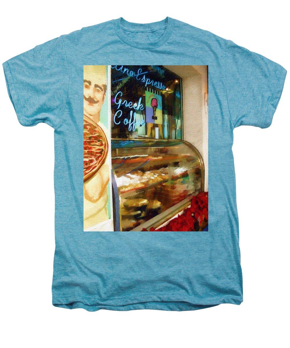 Greek Men's Premium T-Shirt featuring the photograph Greek Coffee by Sandy MacGowan