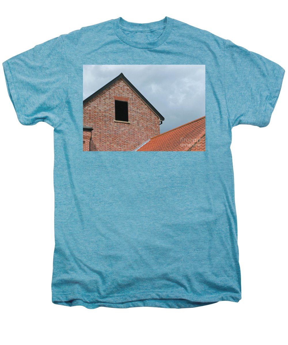 Brick Men's Premium T-Shirt featuring the photograph Grey Skyline by Ann Horn