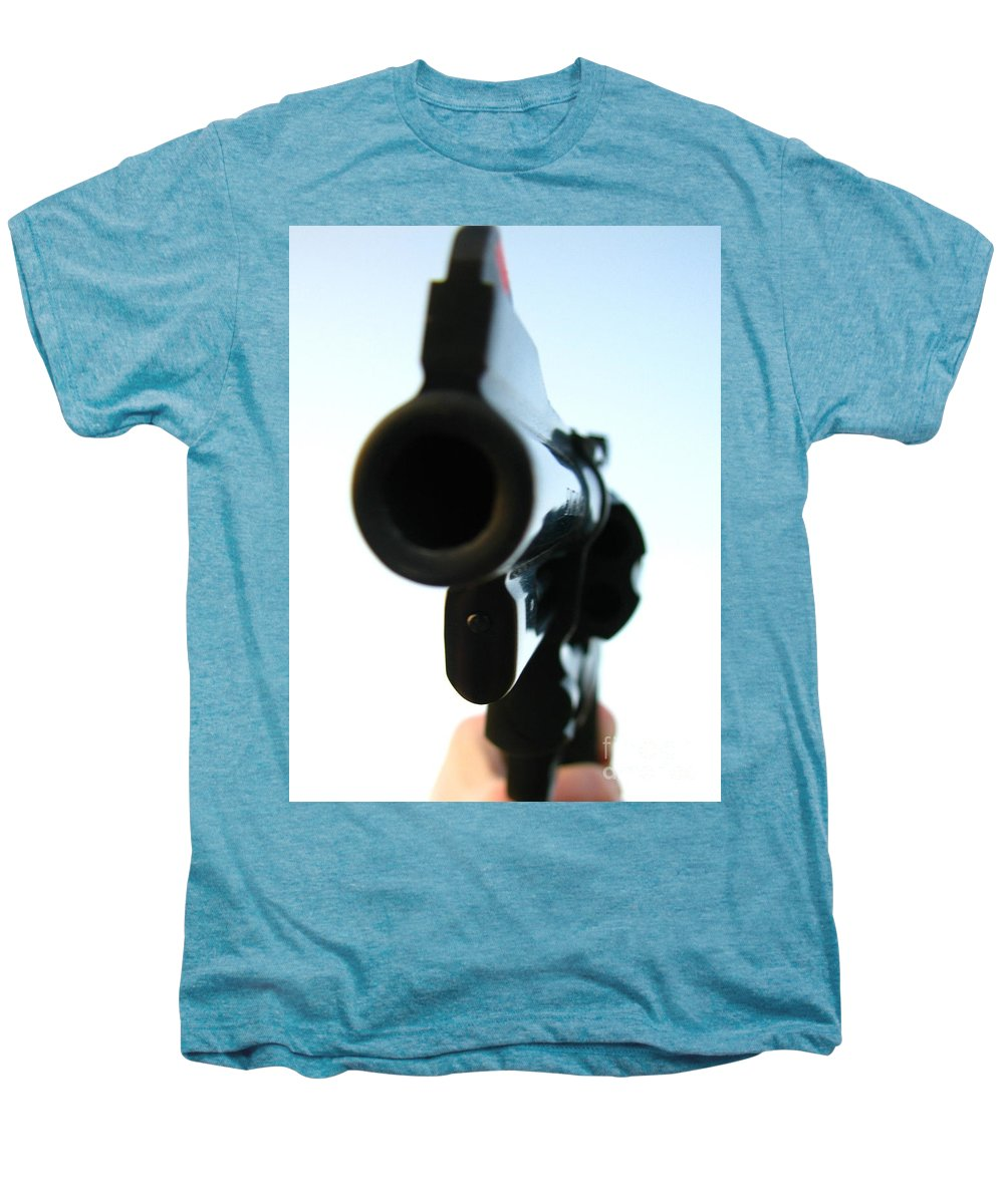 Guns Men's Premium T-Shirt featuring the photograph Gun by Amanda Barcon