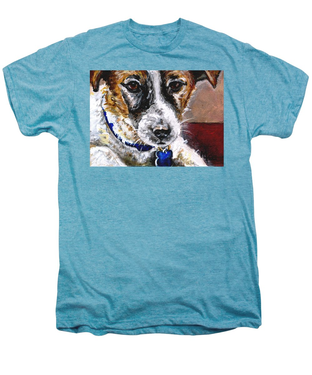 Chartiy Men's Premium T-Shirt featuring the painting Gunter From Muttville by Mary-Lee Sanders