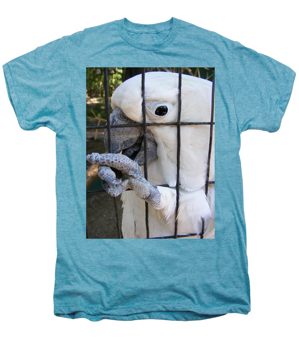 Bird Men's Premium T-Shirt featuring the photograph Hand Me The Key Please by Ed Smith