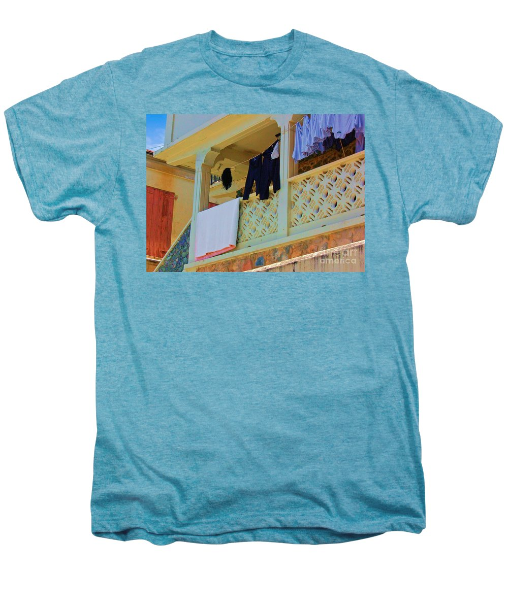 Laundry Men's Premium T-Shirt featuring the photograph Hang Em High by Debbi Granruth