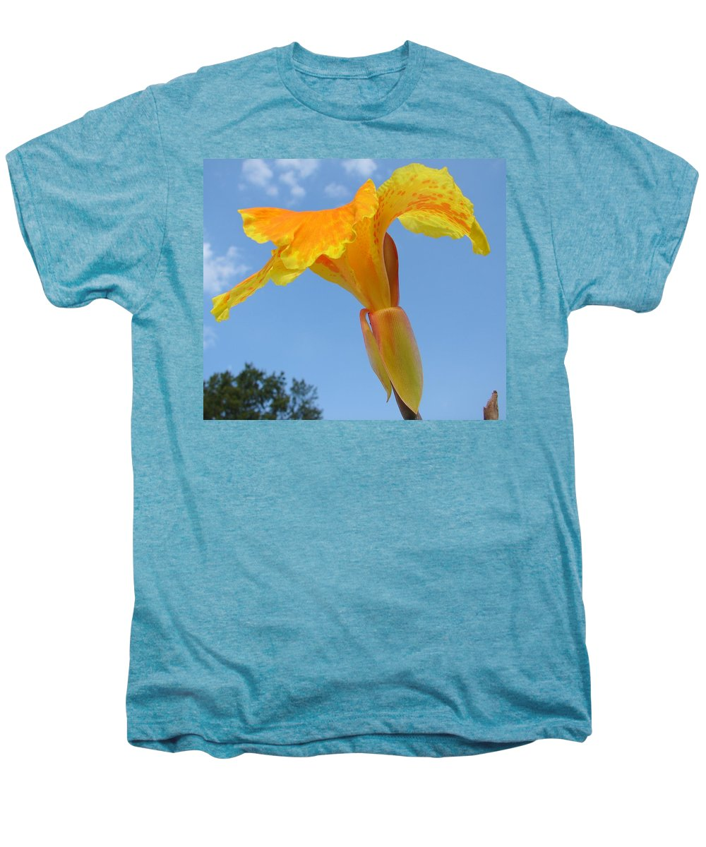 Men's Premium T-Shirt featuring the photograph Happy Canna by Luciana Seymour