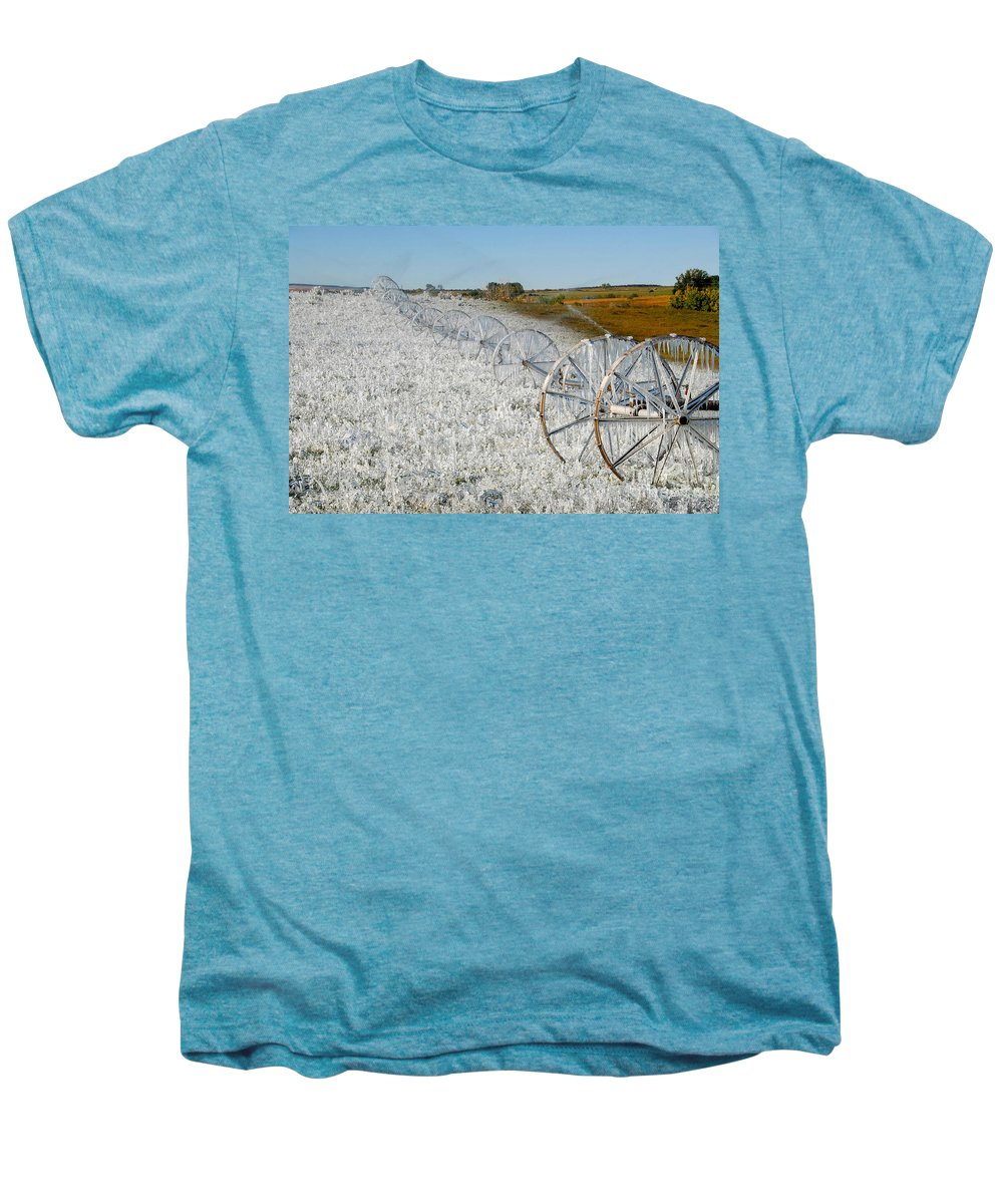 Farm Men's Premium T-Shirt featuring the photograph Hard Land Farming by David Lee Thompson