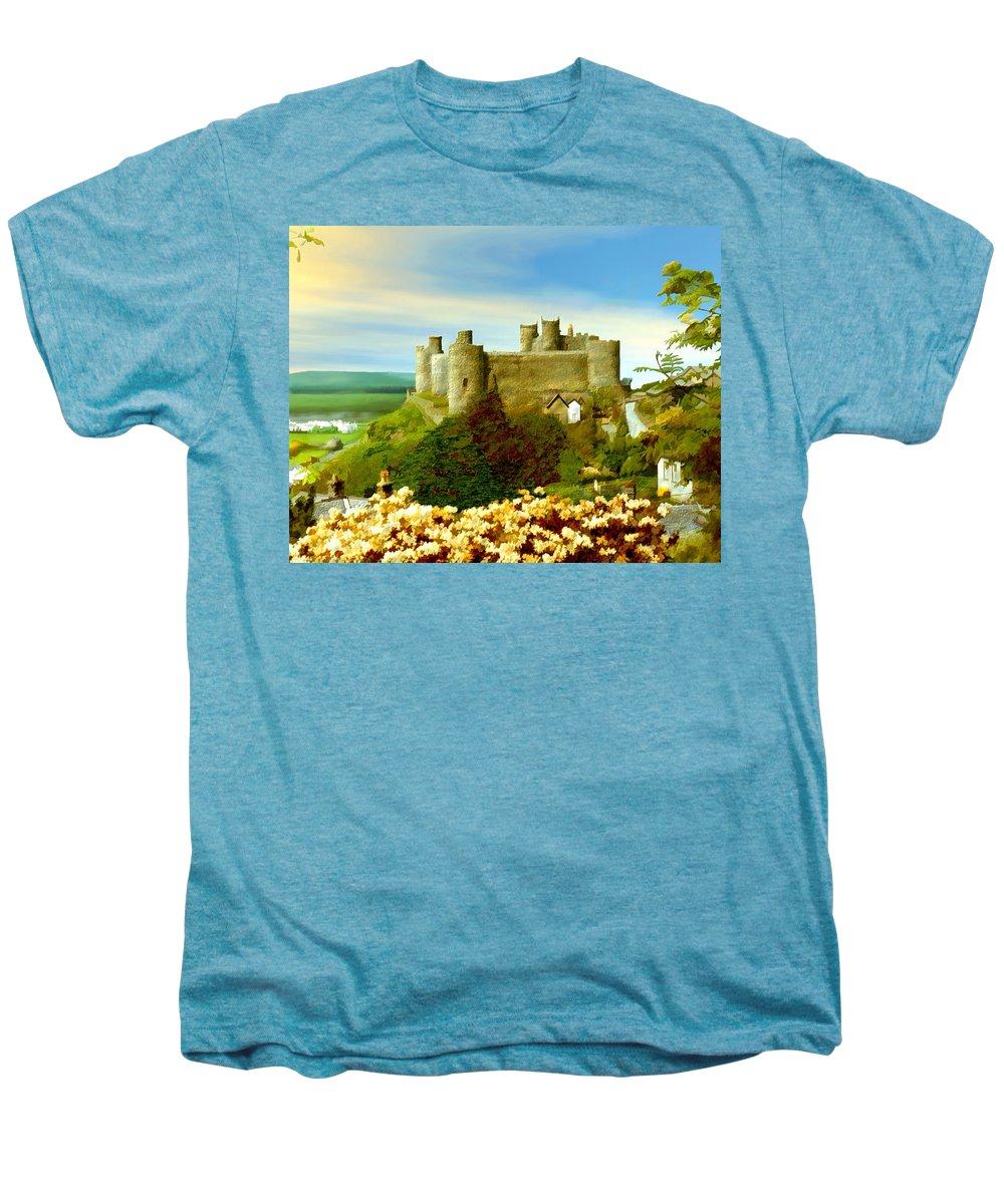 Castles Men's Premium T-Shirt featuring the photograph Harlech Castle by Kurt Van Wagner