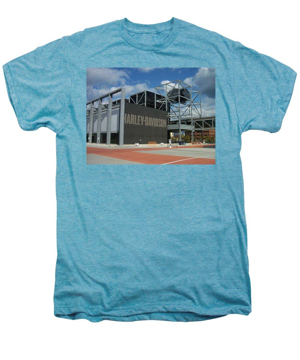 Men's Premium T-Shirt featuring the photograph Harley Museum by Anita Burgermeister