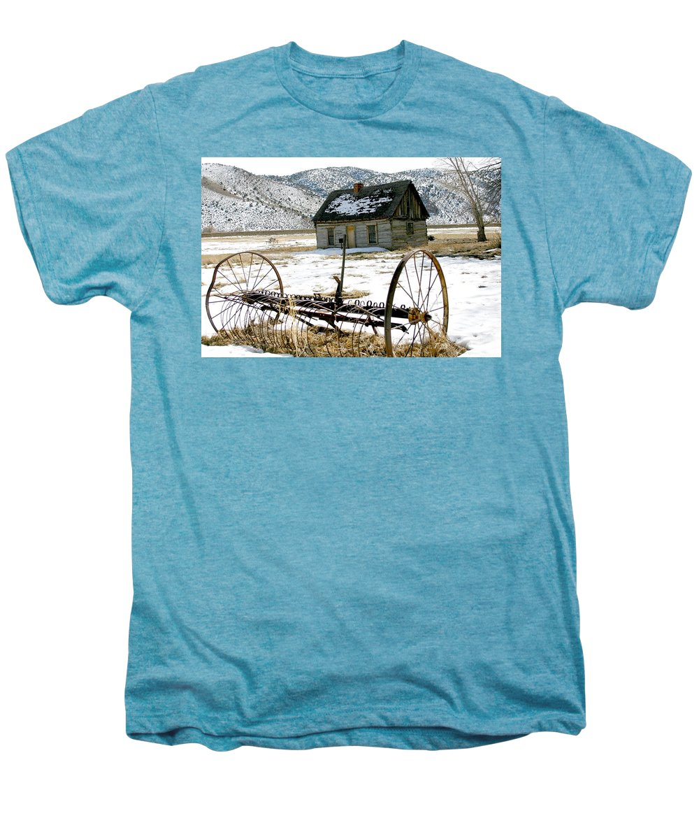 Utah Men's Premium T-Shirt featuring the photograph Hay Rake At Butch Cassidy by Nelson Strong