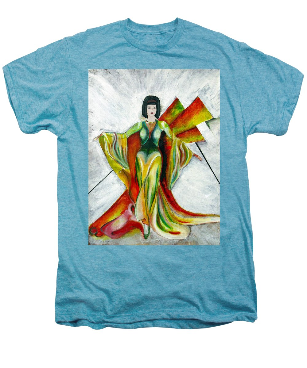 Dress Men's Premium T-Shirt featuring the painting Here Comes The Sun by Tom Conway