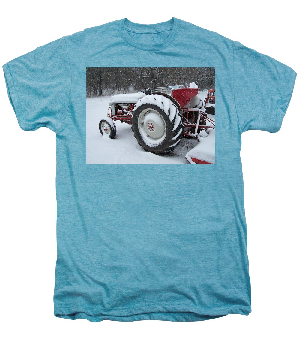 Tractor Men's Premium T-Shirt featuring the photograph Herman by Gale Cochran-Smith