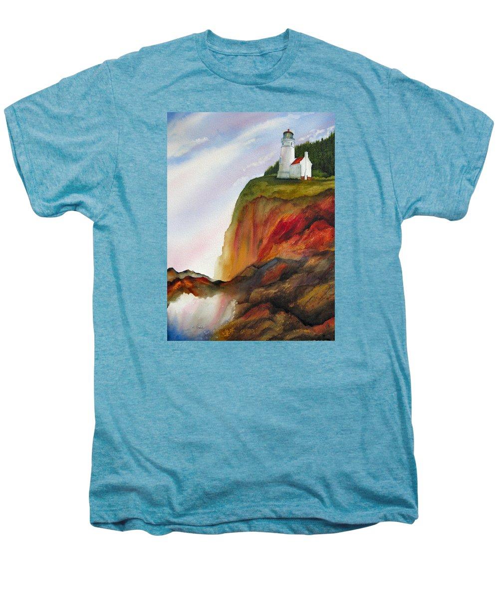 Coastal Men's Premium T-Shirt featuring the painting High Ground by Karen Stark