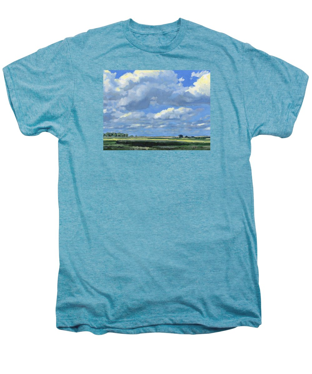 Landscape Men's Premium T-Shirt featuring the painting High Summer by Bruce Morrison