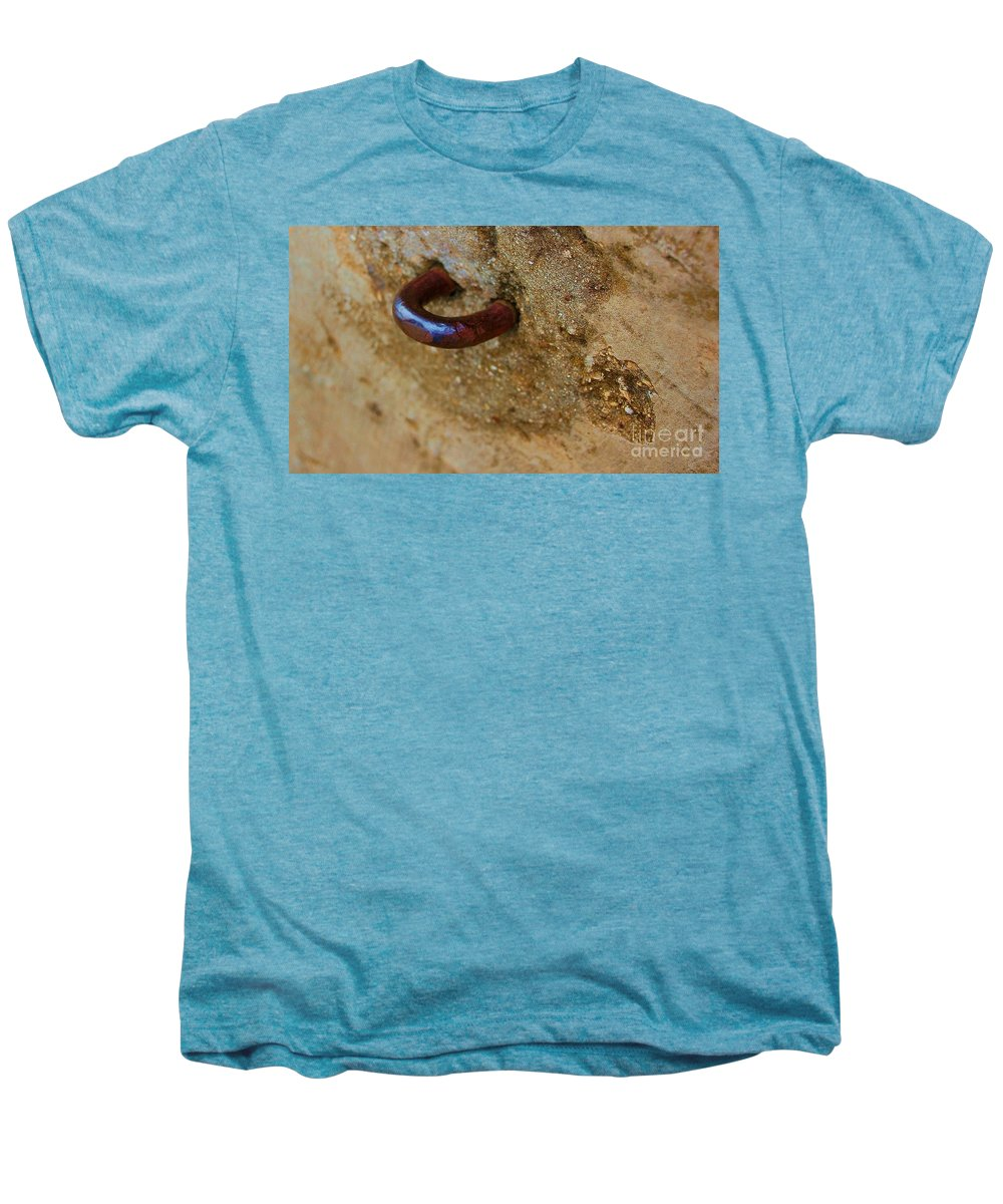 Concrete Men's Premium T-Shirt featuring the photograph Hooked by Debbi Granruth