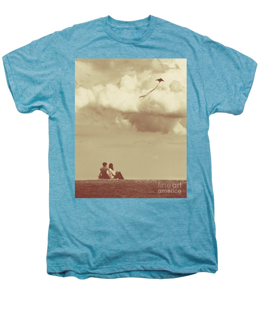 Dipasquale Men's Premium T-Shirt featuring the photograph I Had A Dream I Could Fly From The Highest Swing by Dana DiPasquale