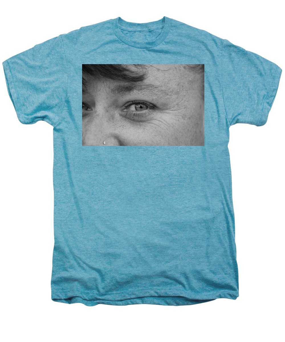 Black And White Men's Premium T-Shirt featuring the photograph I See You by Rob Hans