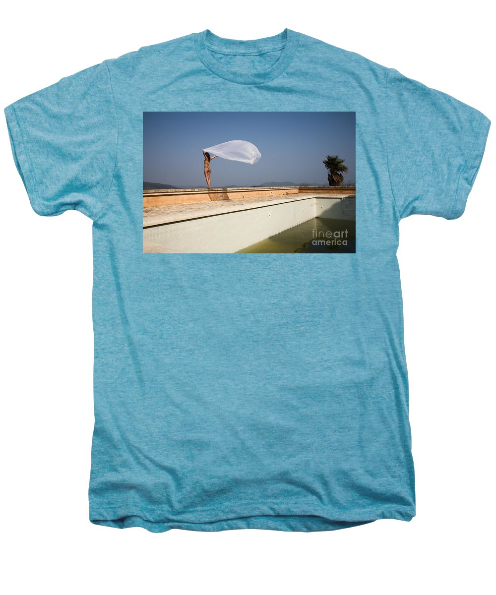 Sensual Men's Premium T-Shirt featuring the photograph I Will Fly To You by Olivier De Rycke