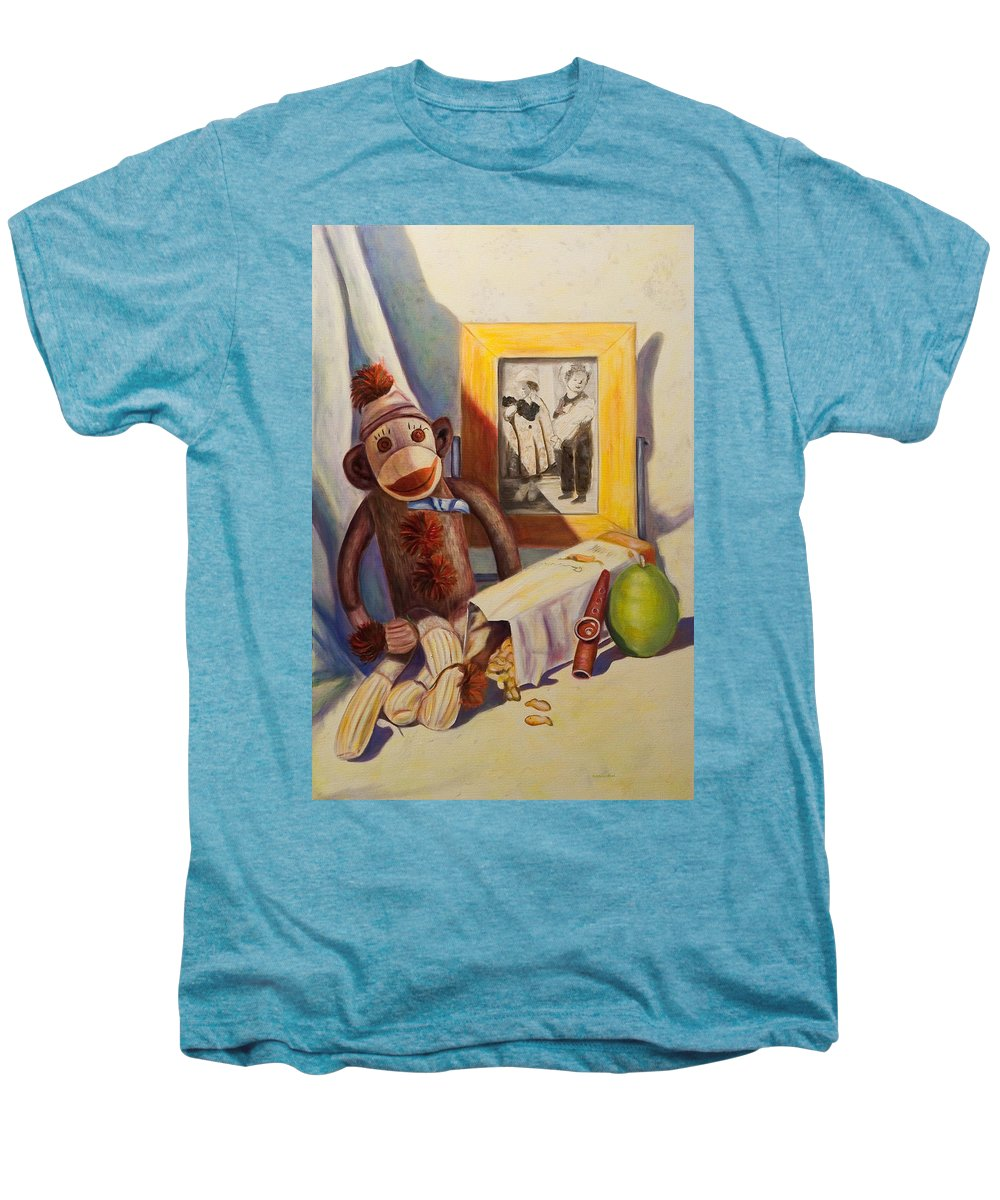 Children Men's Premium T-Shirt featuring the painting I Will Remember You by Shannon Grissom