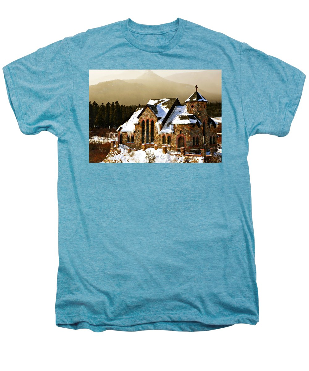 Americana Men's Premium T-Shirt featuring the photograph Icicles by Marilyn Hunt
