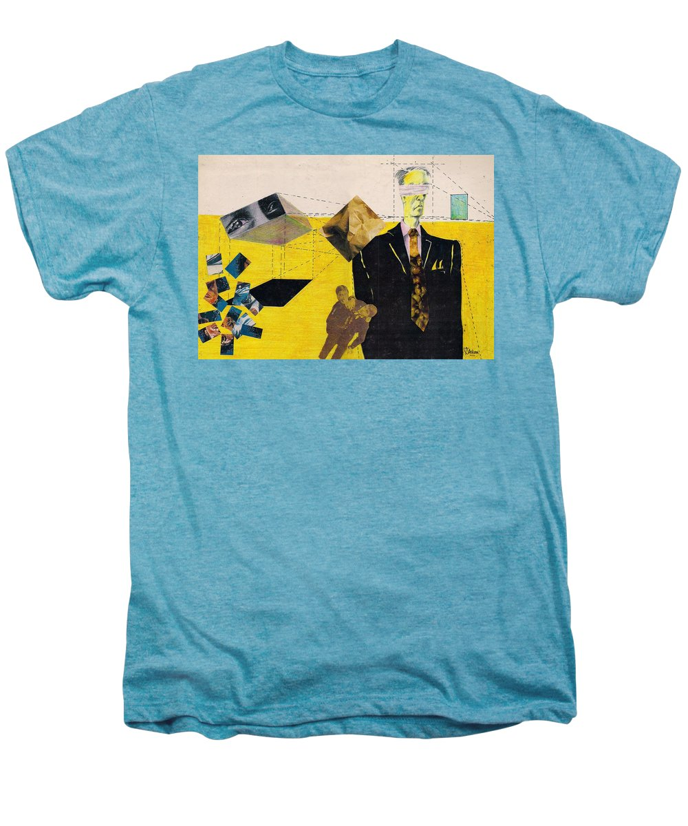 Idol Icon Conflict Lies Vicious Men's Premium T-Shirt featuring the mixed media Idolatry by Veronica Jackson