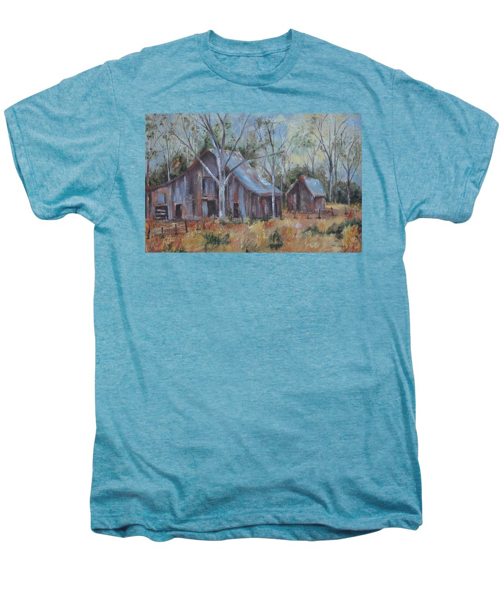 Barns Men's Premium T-Shirt featuring the painting If They Could Speak by Ginger Concepcion
