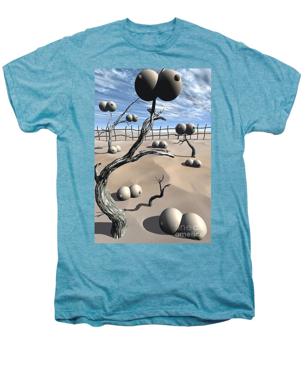 Humor Men's Premium T-Shirt featuring the digital art Imm Plants by Richard Rizzo