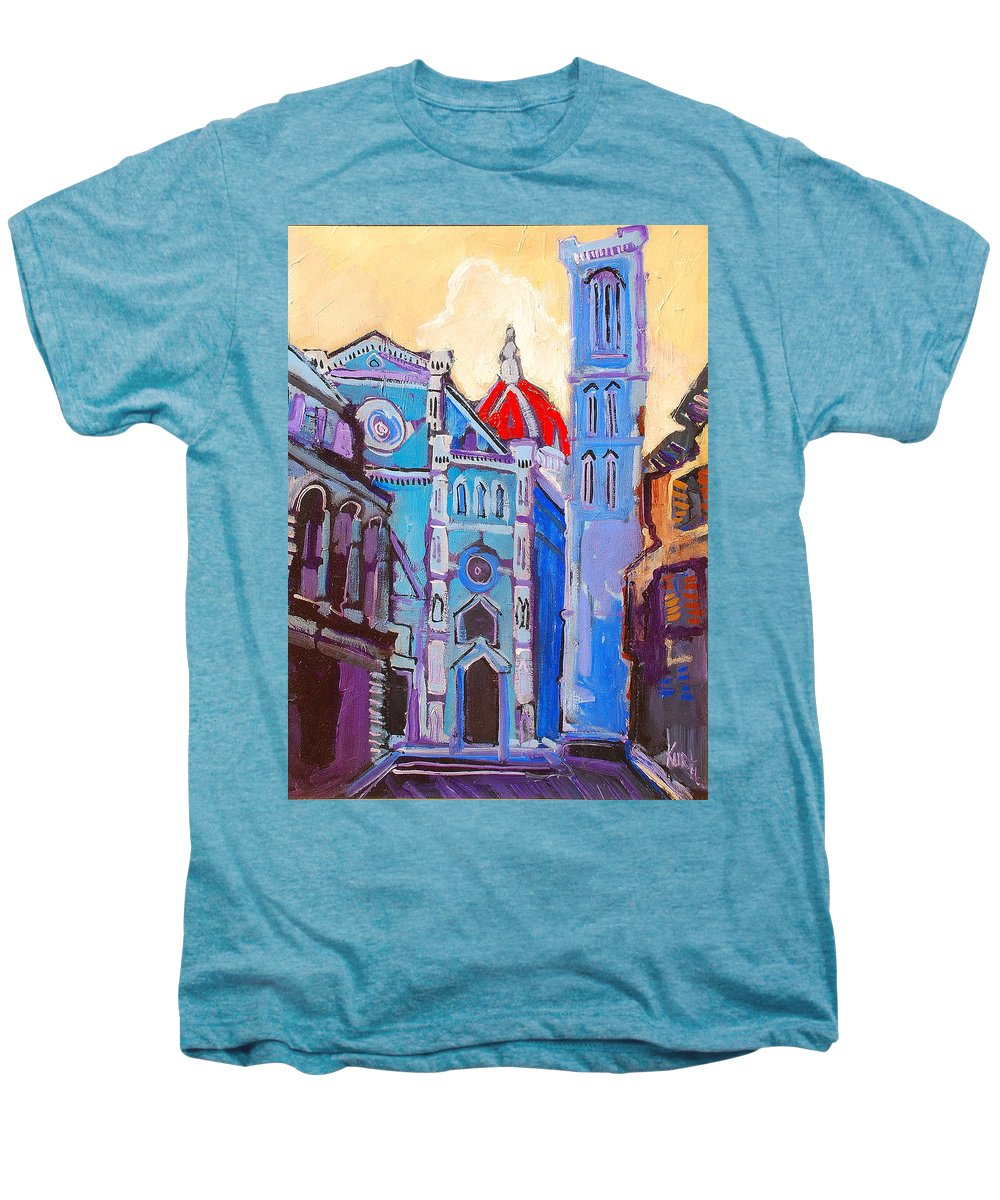 Florence Men's Premium T-Shirt featuring the painting In The Middle Of by Kurt Hausmann