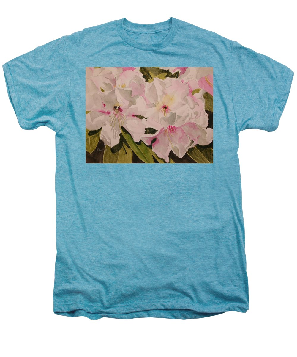 Pink Men's Premium T-Shirt featuring the painting In The Pink by Jean Blackmer