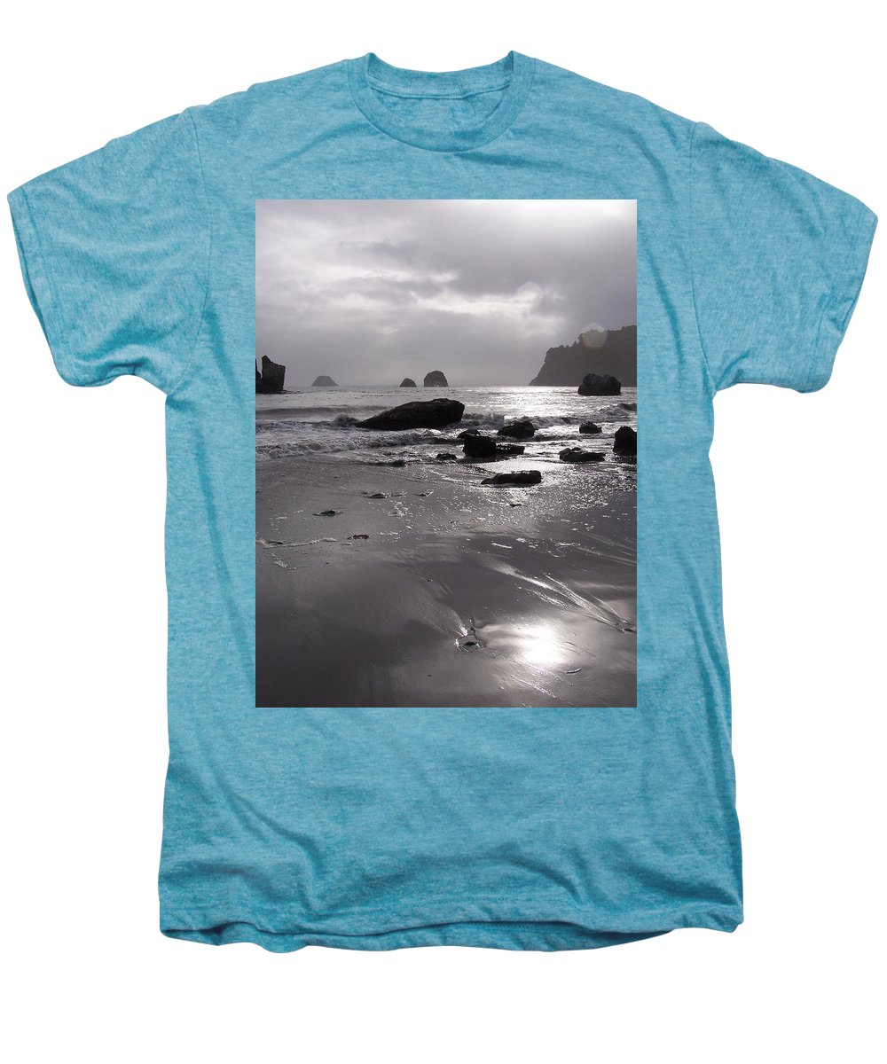 Beach Men's Premium T-Shirt featuring the photograph Indian Beach by Gale Cochran-Smith
