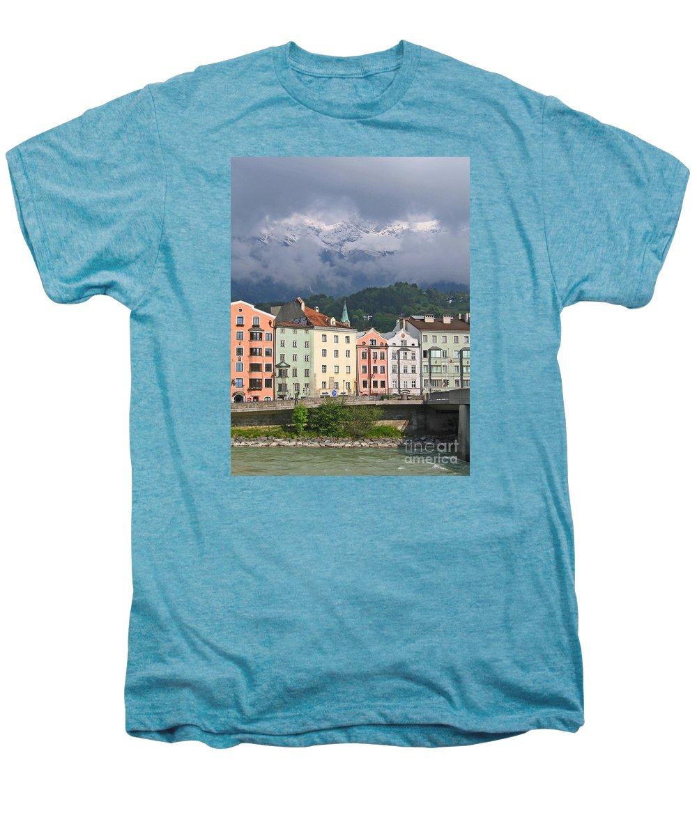 Innsbruck Men's Premium T-Shirt featuring the photograph Innsbruck by Ann Horn