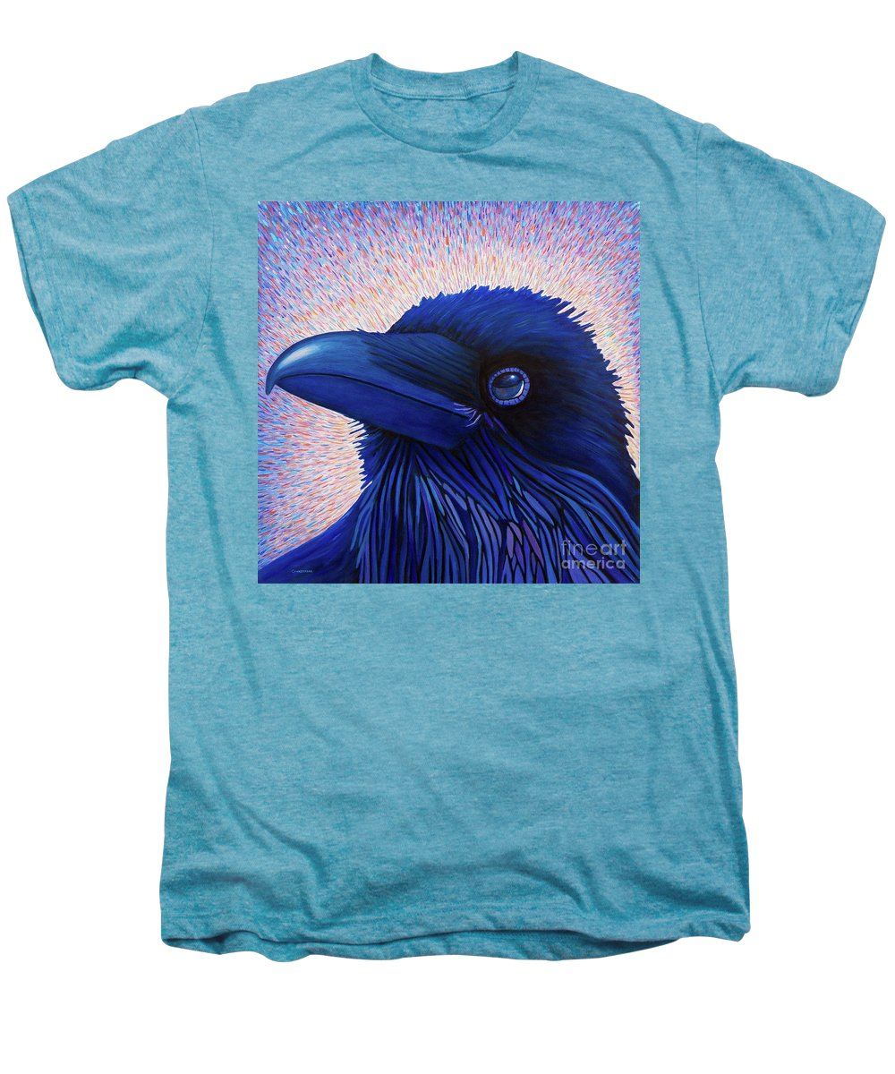 Raven Men's Premium T-Shirt featuring the painting Inspiration by Brian Commerford