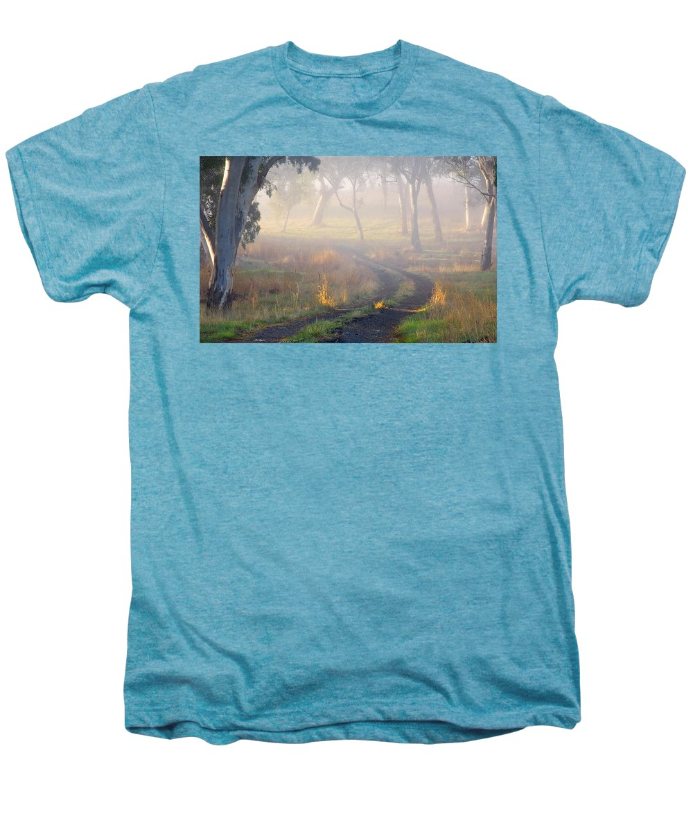 Mist Men's Premium T-Shirt featuring the photograph Into The Mist by Mike Dawson