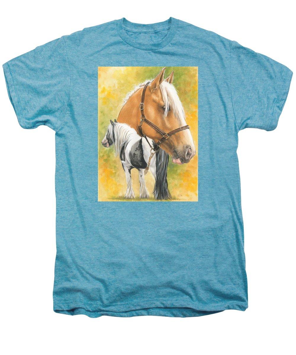 Draft Horse Men's Premium T-Shirt featuring the mixed media Irish Cob by Barbara Keith