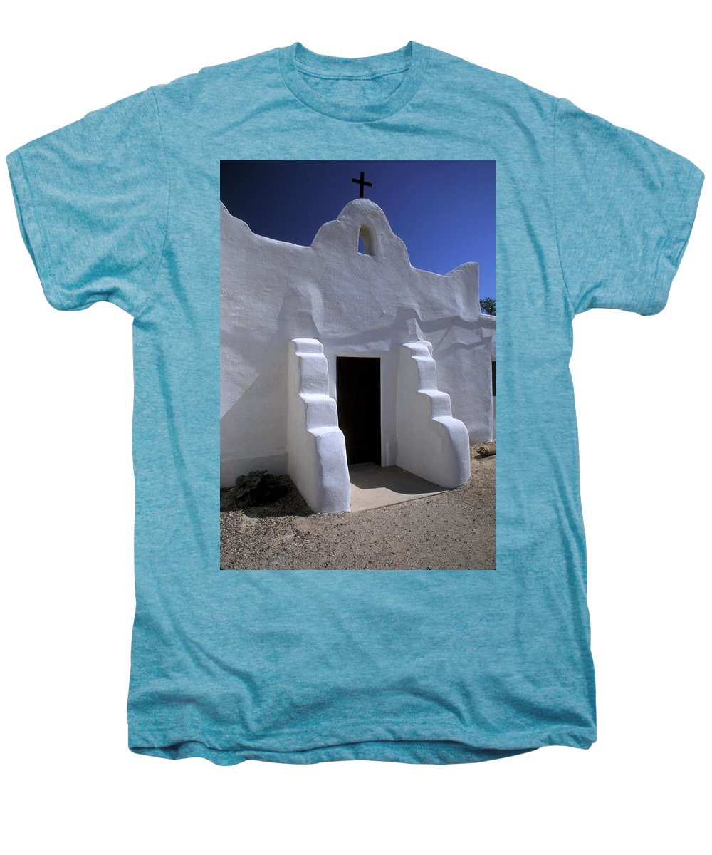 Adobe Men's Premium T-Shirt featuring the photograph Isleta by Jerry McElroy