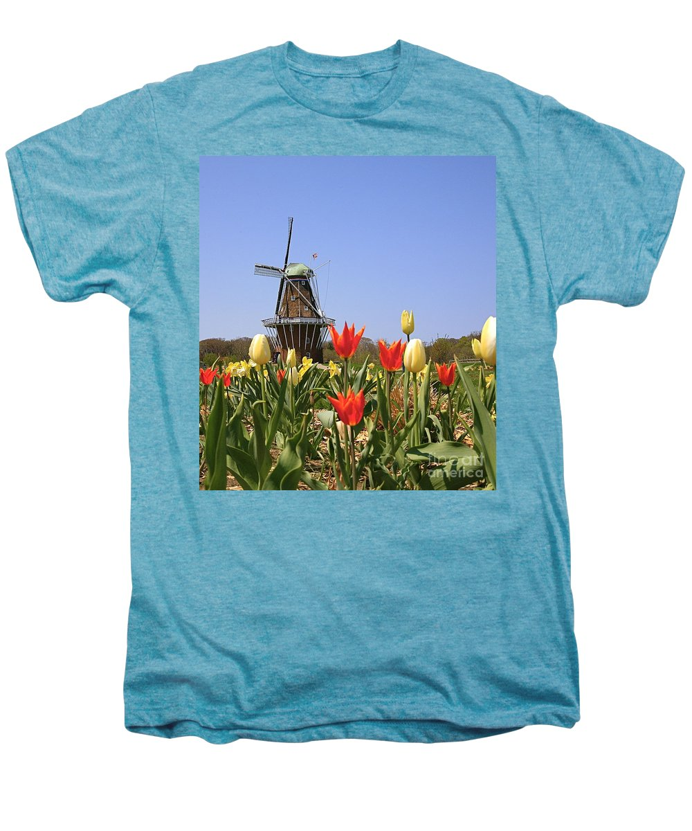 Tulips Men's Premium T-Shirt featuring the photograph Its Tulip Time by Robert Pearson