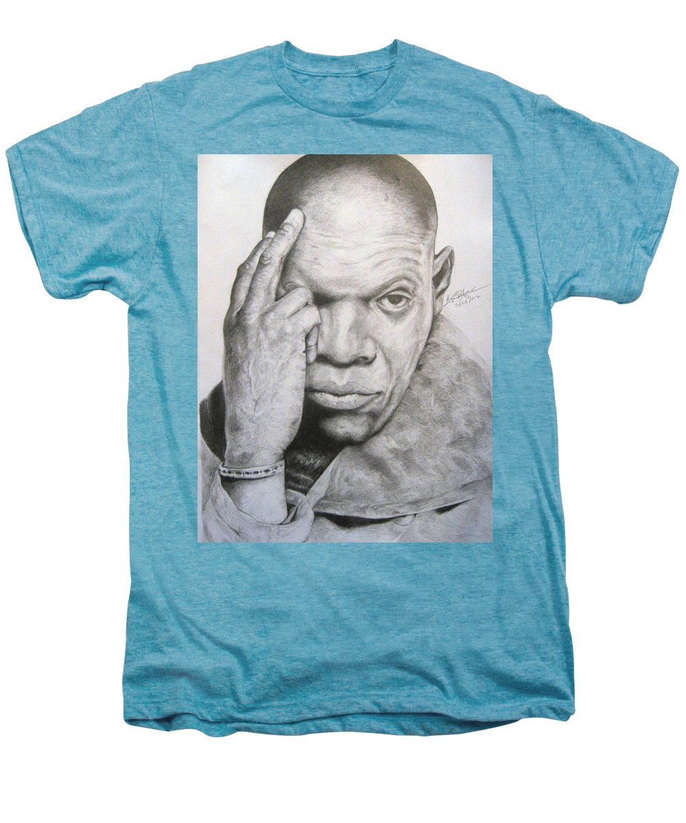 Portrait Men's Premium T-Shirt featuring the drawing Jackson By Kyle Anderson by Joyce Owens