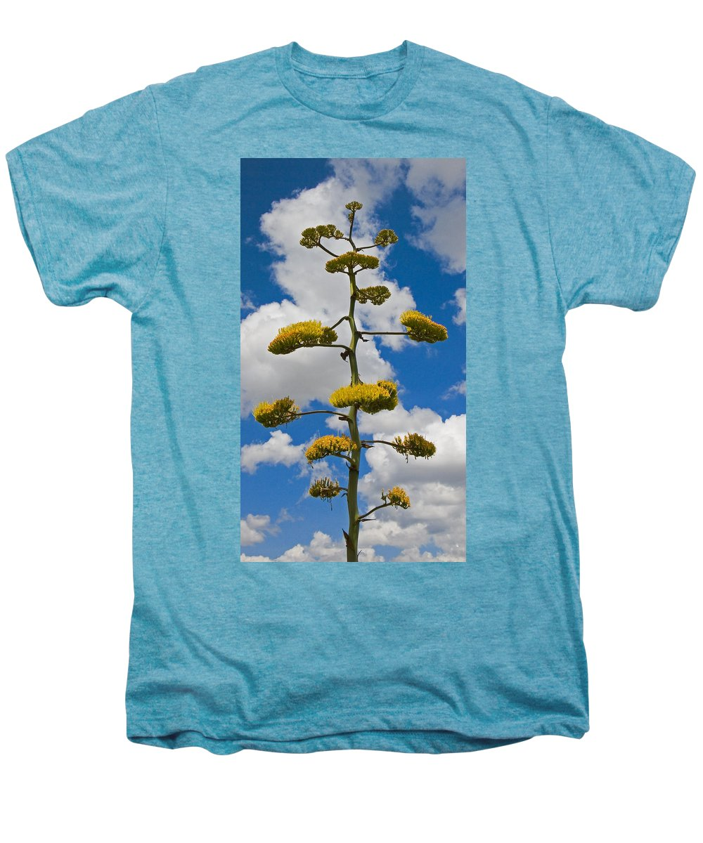 Blue Men's Premium T-Shirt featuring the photograph Jacobs Ladder by Skip Hunt