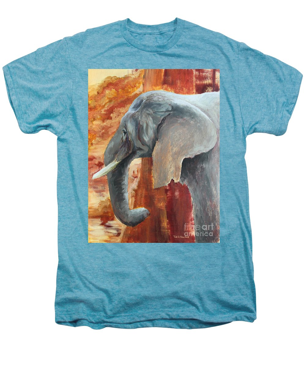 Animal Men's Premium T-Shirt featuring the painting Jana by Todd A Blanchard